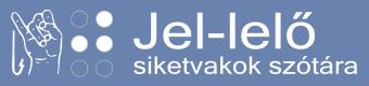 Jel-lelő logó