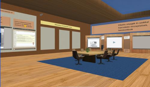 Részlet a virtuális konzultációs szobából