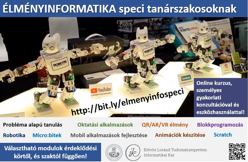 Élményinformatika kurzus plakát